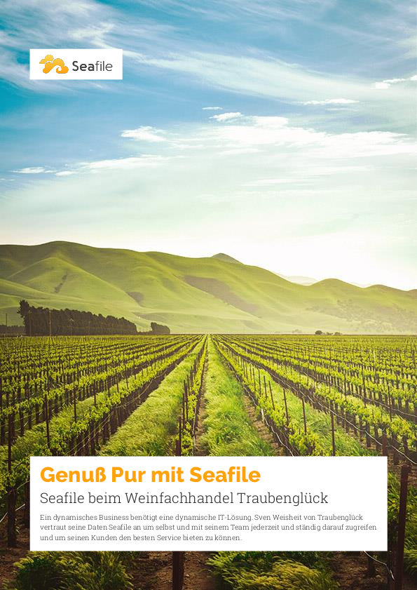 Kundenstimme Seafile beim Weinfachhandel Traubenglück