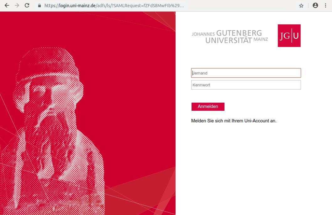 individuelles Customizing der Uni Mainz